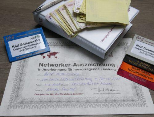 Netzwerkauszeichnung – BNI 01/2020