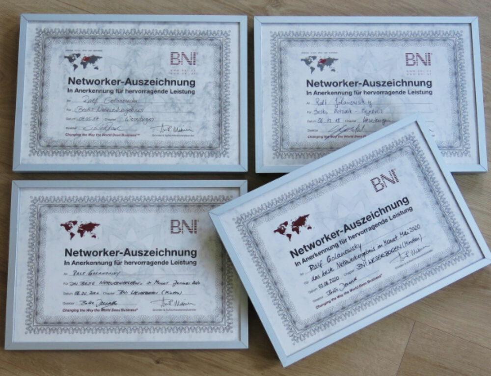 Netzwerkauszeichnung – BNI 05/2020